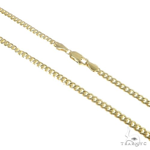 14K Yellow Gold Solid Thin Miami Cuban Link Chain 22 Inches 3.5mm 19.0 Grams 65899 Gold