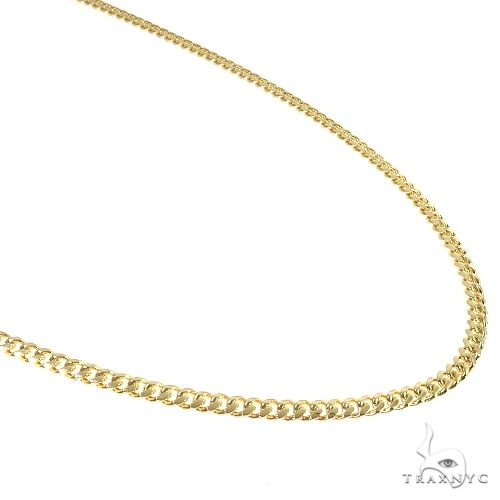 14K Yellow Gold Solid Thin Miami Cuban Link Chain 24 Inches 3.5mm 21 Grams 65675 Gold