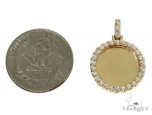 14K Yellow Gold Sweet Memories Collection Mini Diamond Photo Pendant 66262 Style