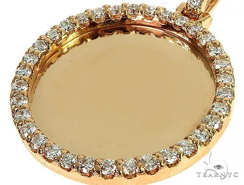 14K Yellow Gold Sweet Memories Collection Medium Diamond Photo Pendant 66278 Style