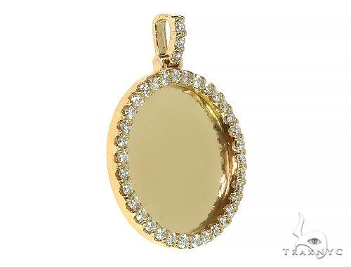 14K Yellow Gold Sweet Memories Collection Medium Diamond Photo Pendant 66279 Style