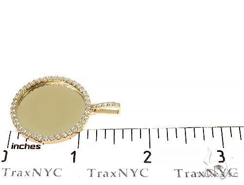 14K Yellow Gold Sweet Memories Collection Medium Diamond Photo Pendant 66281 Style