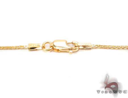 14K Yellow Gold Thin Chain 24 Inches 1mm 3.4 Grams Gold