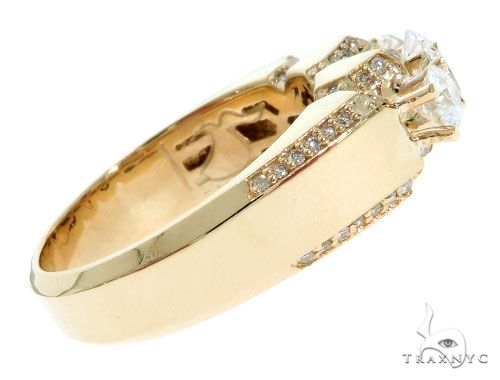14K Yellow Gold TraxNYC 5-Stone Diamond Ring 61477 Stone