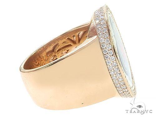 14K Yellow Gold TraxNYC Diamond Photo Ring 65762 Metal