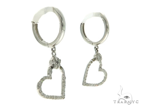 14KW Heart Diamond Earrings 57308 Stone
