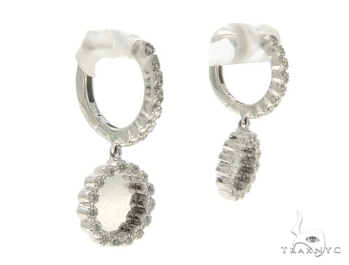 14KW Prong Diamond Hoop Earrings 57315 Stone