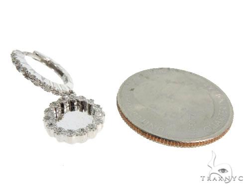 14KW Prong Diamond Hoop Earrings 57315 Stone