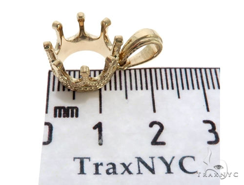 14KY Crown Charm Pendant 57701 Metal