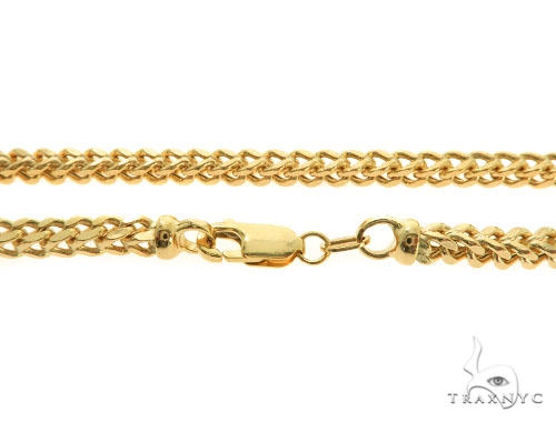 14KY Hollow Franco Link Chain 26 Inches 3.5mm 19.70Grams 57295 Gold