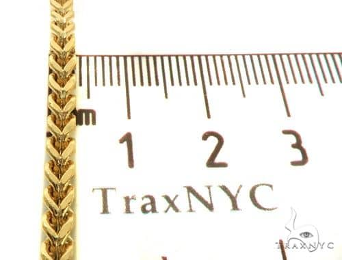 14K YG Hollow Franco Link Chain 26 Inches 4.5mm 26.0 Grams 65555 Gold