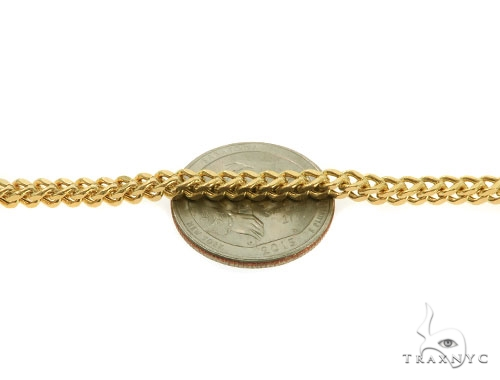 14KY Hollow Franco Link Chain 26 Inches 3.5mm 19.6 Grams Gold