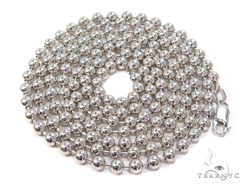 14k Ball Gold Chain 34 Inches 4mm 44.5 Grams 40782 Gold