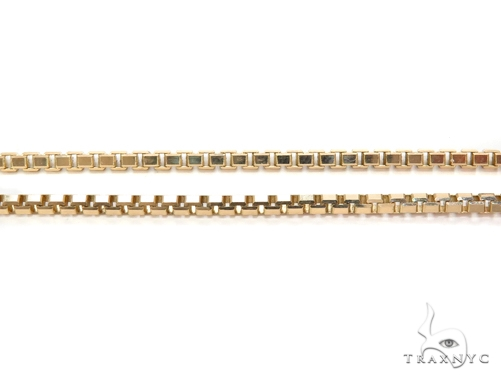 14k Beveled Box Gold Chain 18 Inches 2mm 10.3Grams 40788 Gold