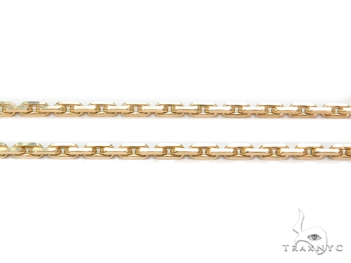 14k Boston Link Gold Chain 22 Inches 2mm 13.8 Grams 40792 Gold