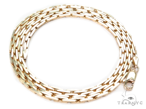 14k Boston Link Gold Chain 22 Inches 2mm 14.5 Grams 40793 Gold