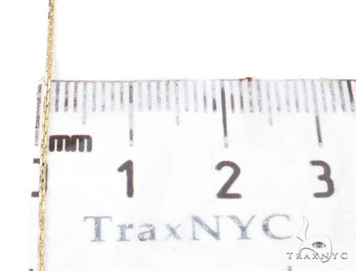 14k Boston Link Gold Necklace 16 Inches 1mm 1.2 Grams 40789 Gold
