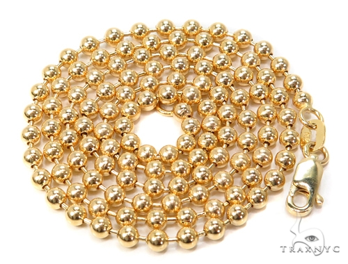 14k Gold Ball Chain 20 Inches 3mm 13.7 Grams 40783 Gold