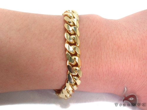 14k Gold Cuban Bracelet 9 inches 11mm 83.7 Grams 34627 Gold
