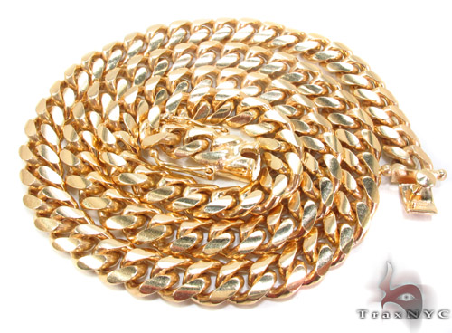 14k Gold Cuban Chain 26 Inches 10mm 209.9 Grams Gold