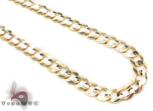 14k Gold Curb Chain 22 Inches 4.5mm 12.9 Grams Gold