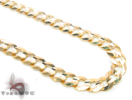 14k Gold Curb Chain 22 Inches 5.5mm 18.9 Grams Gold