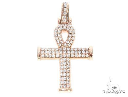 14k Gold Diamond Ankh Pendant 64978 Metal