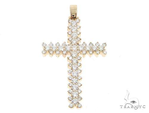 14k Gold Diamond Cross Pendant 64981 Metal