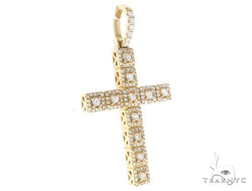 14k Gold Diamond Cross Pendant 64986 Metal