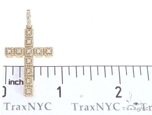 14k Gold Diamond Cross Pendant 64986 Metal