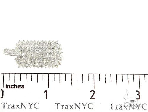 14k Gold Diamond Dog Tag Pendant 64991 Metal