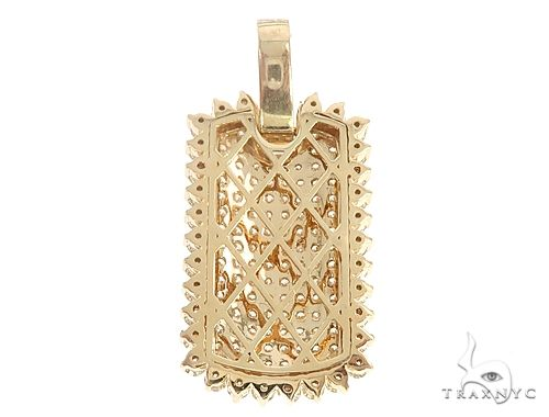 14k Gold Diamond Dog Tag Pendant 64992 Metal