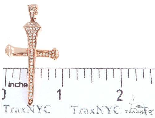 14k Gold Diamond Nail Cross Pendant 64979 Metal