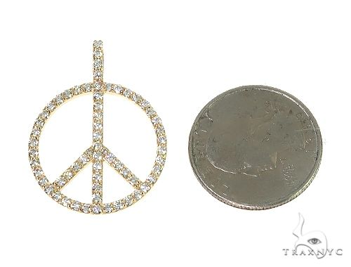 14k Gold Peace and Love Pendant Set 66336 Metal