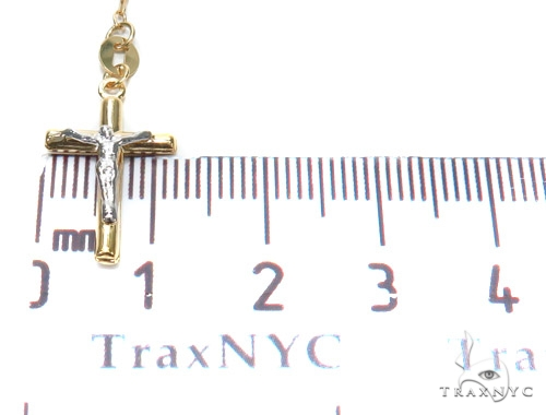 14k Gold Rosary Chain 30 Inches 3mm 6.8 Grams 43026 Gold
