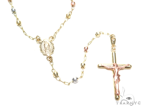 14k Gold Rosary Chain 30 Inches 3mm 8.5 Grams 43022 Gold