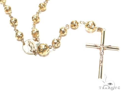 14k Gold Rosary Chain 30 Inches 6mm 28.9 Grams 43020 Gold