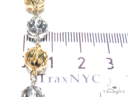 14k Gold Rosary Chain 30 Inches 8mm 40.3 Grams 43018 Gold