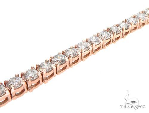 14k RG 4.5mm Diamond Tennis Bracelet 64879 Diamond