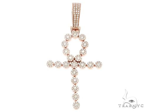 14k Gold Diamond Ankh Pendant 64977 Metal