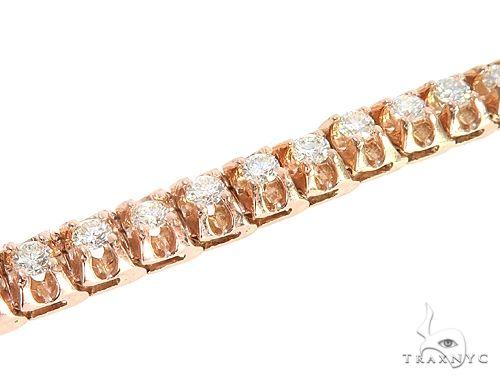 14k Rose Gold Diamond Bracelet 65110 Diamond