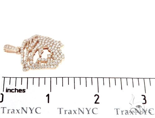 14k Rose Gold Diamond Jesus Pendant 64948 Metal