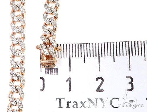 14k Rose Gold Diamond Miami Cuban Link Chain 65094 Diamond