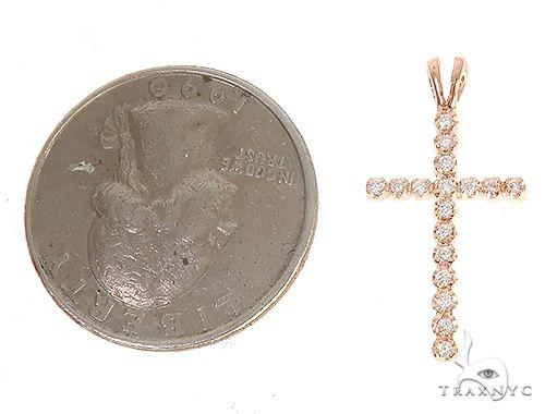 14k Gold Round Cut Cross 4 65153 Diamond