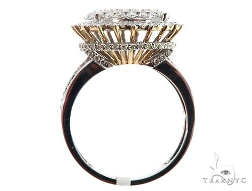 14k Two Tone Diamond Cluster Ring 64749 Anniversary/Fashion