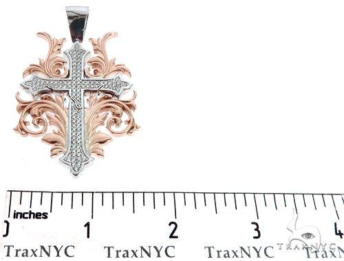 Black Ink Crew 14k Two Tone Diamond Filigree Cross Pendant 64747 Metal