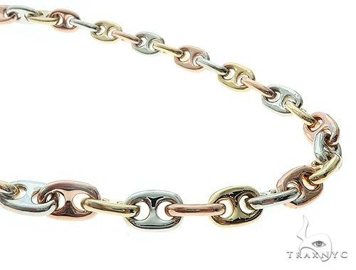 14k Three Tone Gucci Link Chain 66222 Gold