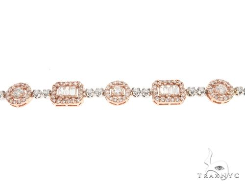 14k Two Tone Rose and White Gold Diamond Chain 64967 Diamond
