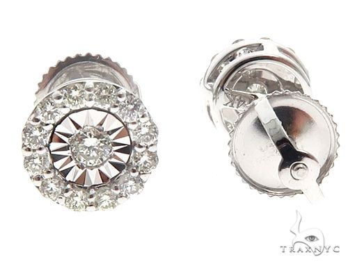 14k WG Diamond Stud Earrings 64825 Stone