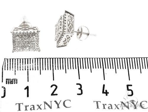14k WG Diamond Stud Earrings 64827 Stone